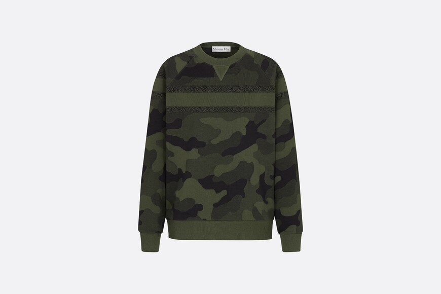 Camouflage Sweatshirt Front view Open gallery