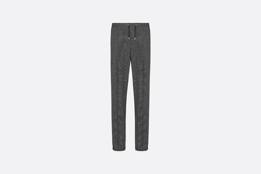 Micro-Houndstooth Track Pants Front view Open gallery