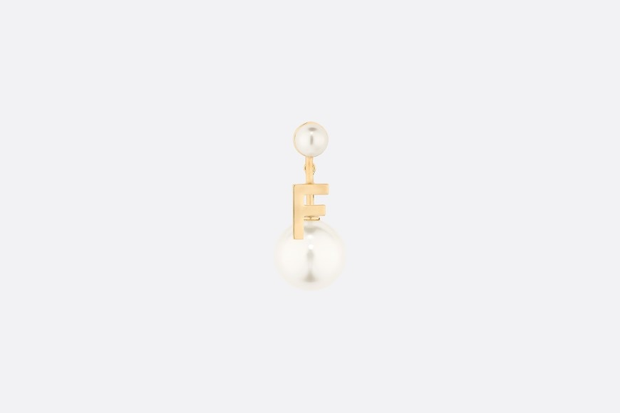My ABCDior Tribales Letter F Earring Front view Open gallery