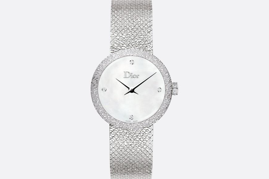 La D de Dior Satine 시계 aria_frontView aria_openGallery