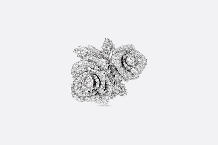 Ring Rose Dior Bagatelle gm, aus 750er weissgold mit Diamanten aria_frontView
