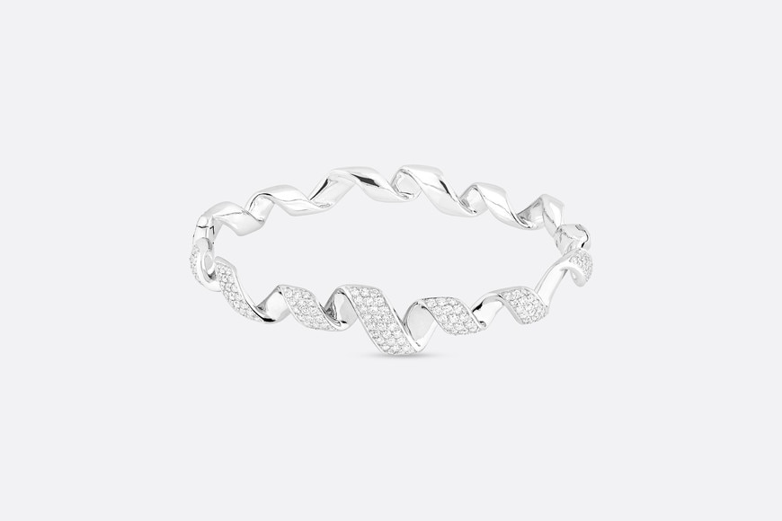 Archi Dior Diorama bracelet in 18k white gold and diamonds aria_frontView