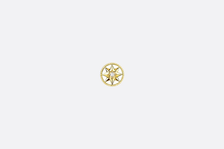 Rose des vents xs earring, 18k yellow gold and diamond aria_frontView
