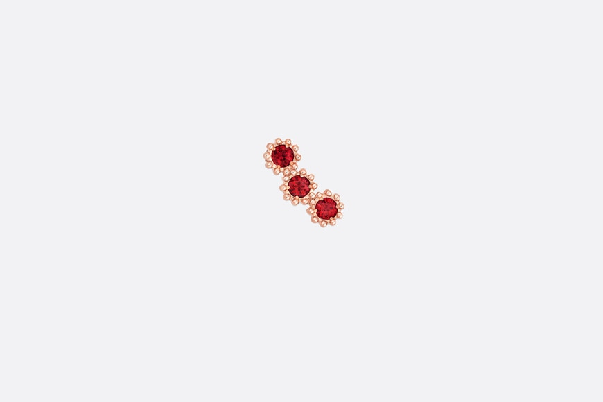 Mimirose earring, 18K pink gold and rubies aria_frontView