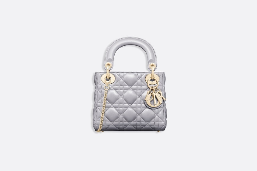 Mini sac Lady Dior en agneau aria_frontView