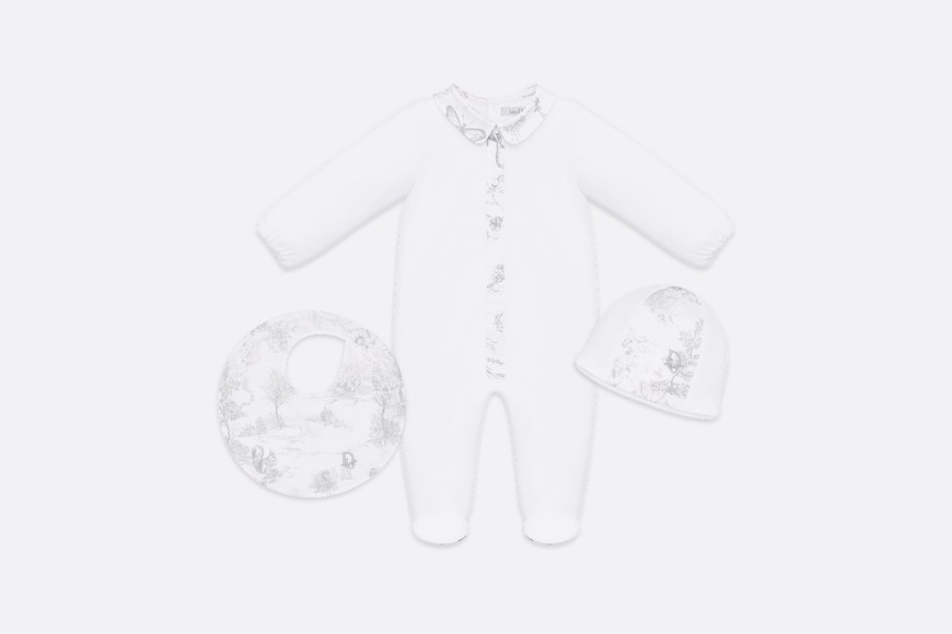 New-born 'Toile de Jouy' print gift set aria_frontView