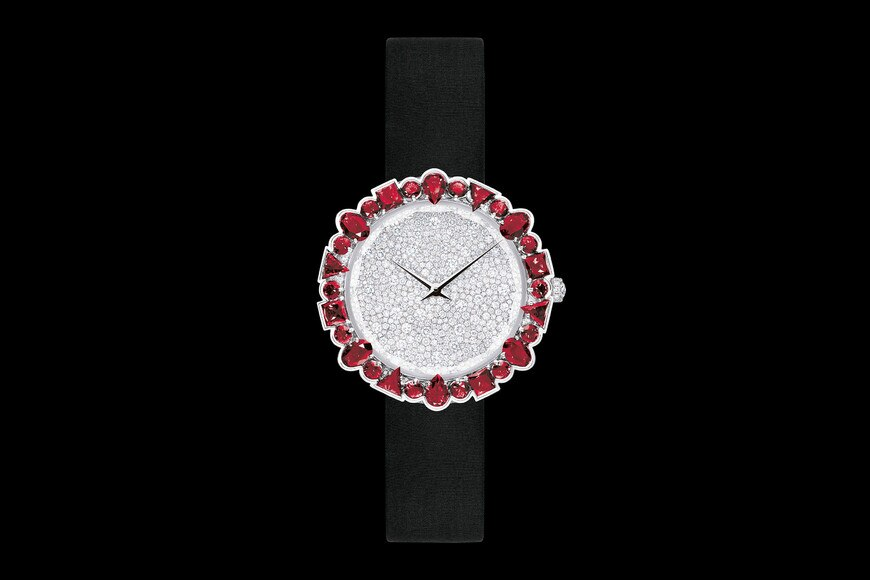 La D de Dior Cocotte Ø 38 mm, quartz movement aria_frontView