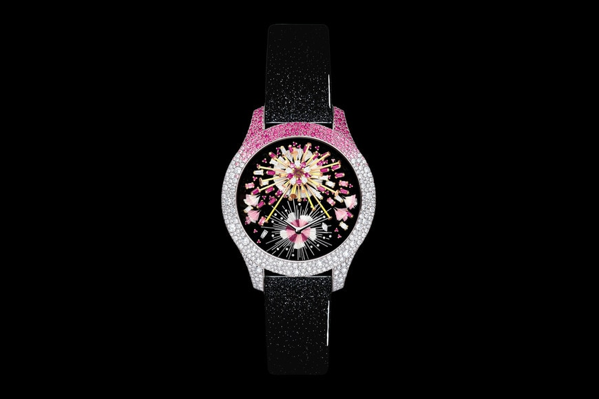 """Dior Grand Soir Feux d'Artifice N°14"" 直径 36 mm、クォーツムーブメント aria_frontView"