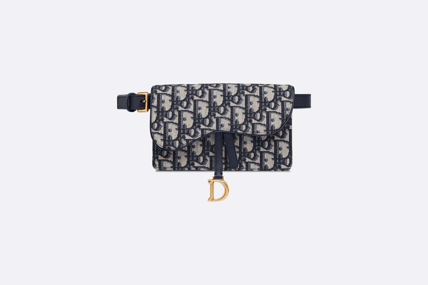 Dior Oblique Saddle-clutch aria_frontView