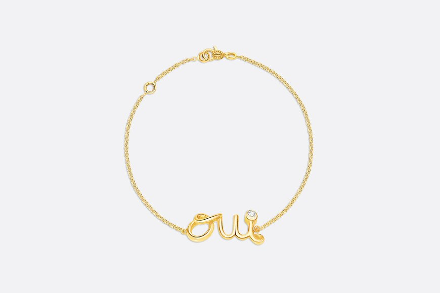 Oui bracelet in 18k yellow gold and diamond aria_frontView