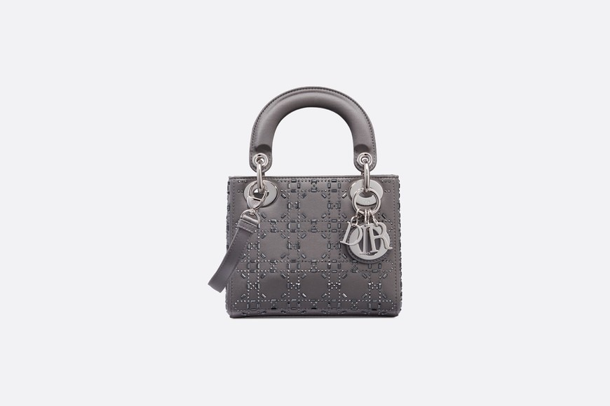 Mini sac Lady Dior en satin aria_frontView