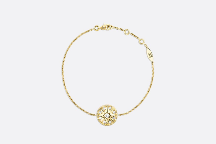 Rose des vents bracelet, 18k yellow gold and diamonds aria_frontView