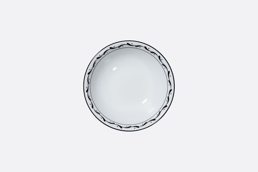 Black and white striped cereal bowl aria_frontView