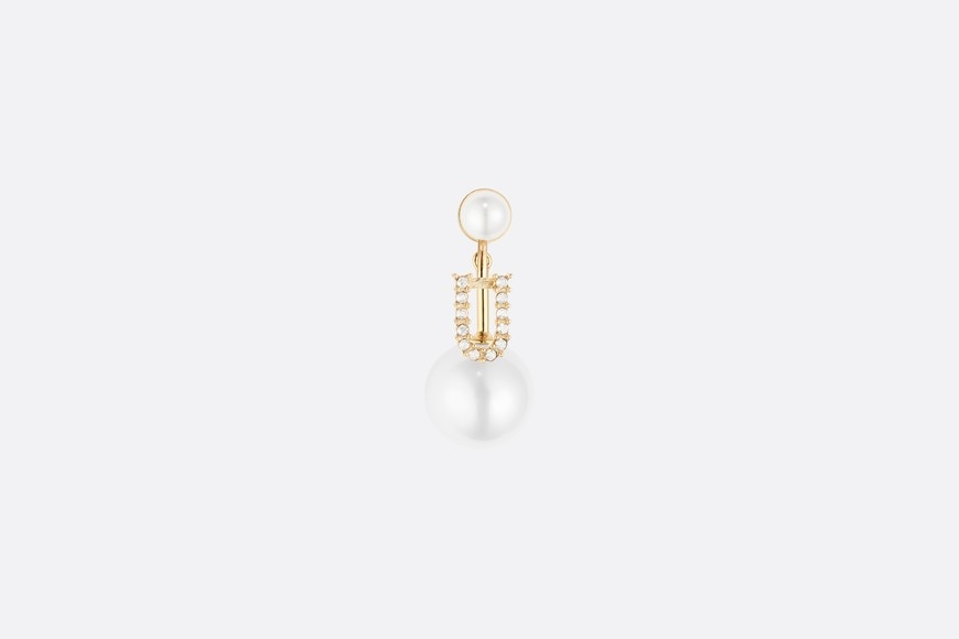 Letter 'U' My ABCDior Tribales Gold Finish Earring aria_frontView