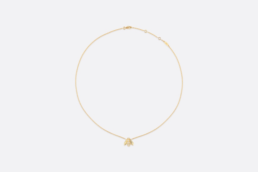 Rose Dior Pré Catelan necklace, 18K yellow gold and diamonds aria_frontView