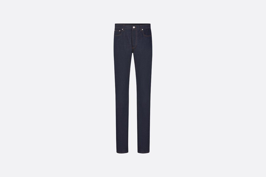 Slim-Fit Jeans with Dior Oblique Print front view Open gallery
