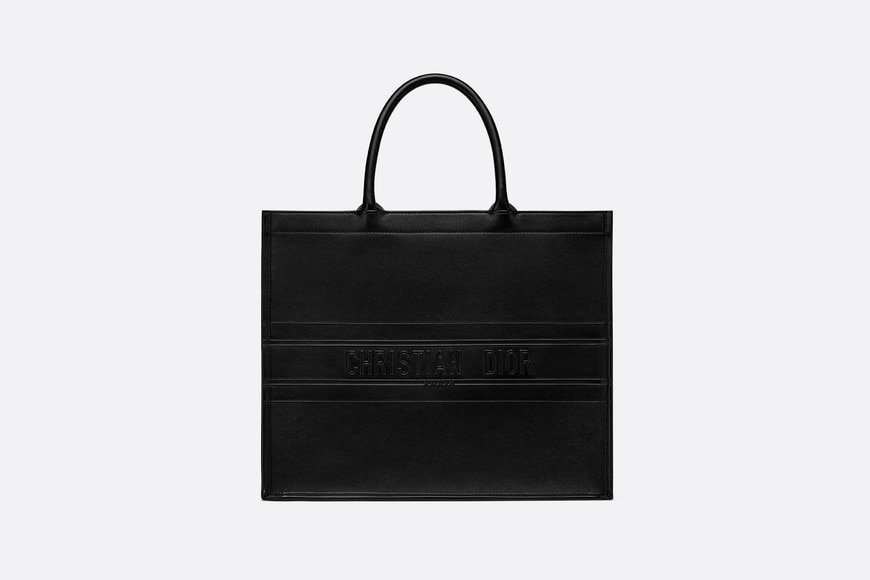 Black Embossed Calfskin Dior Book Tote aria_frontView