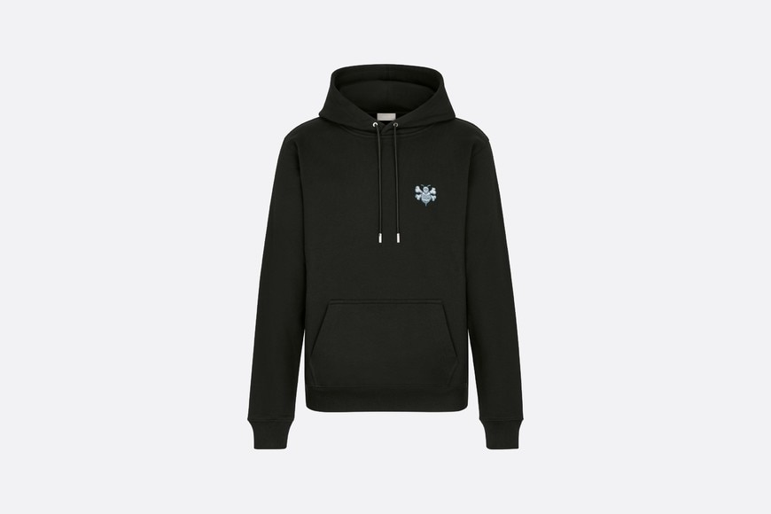DIOR AND SHAWN Oversized Hooded Sweatshirt Front view Open gallery