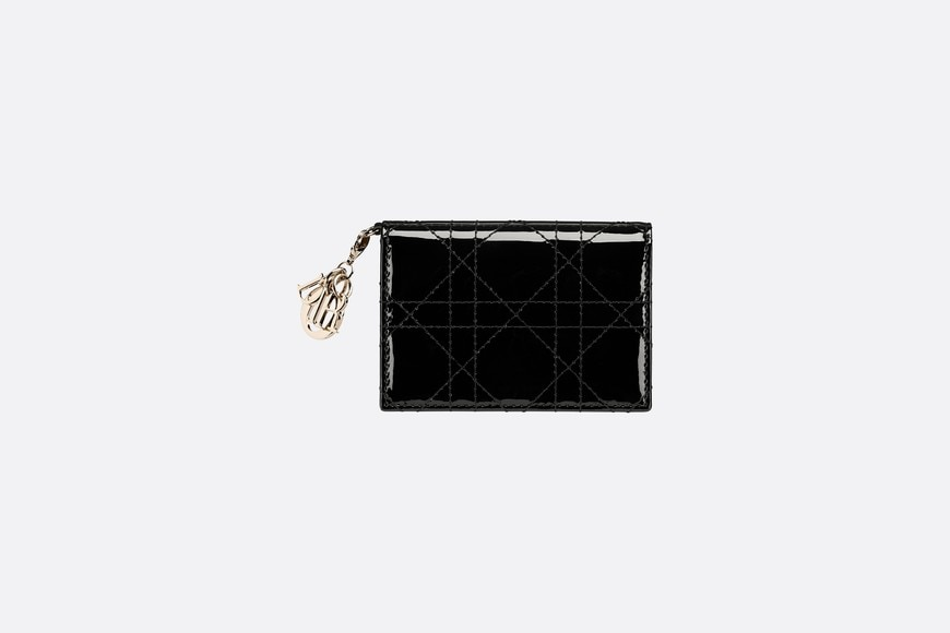 Lady Dior Flap Card Holder Front view Open gallery
