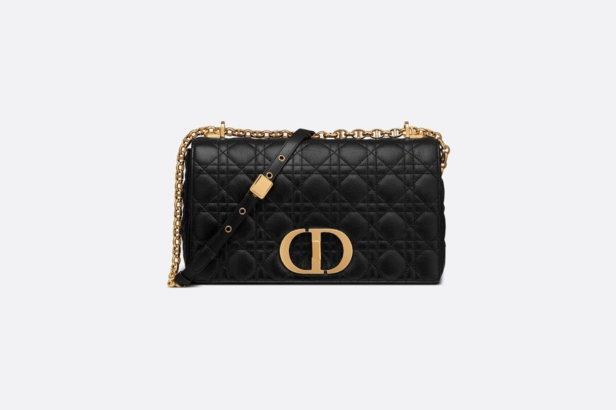 Large Dior Caro Bag Front view Open gallery
