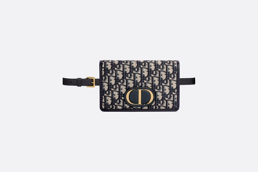Blue 30 Montaigne Dior Oblique Jacquard 2-in-1 Pouch aria_frontView