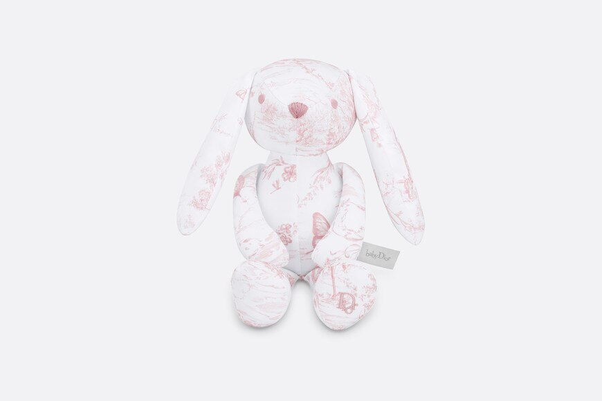 Cotton satin 'Toile de Jouy' print rabbit aria_frontView