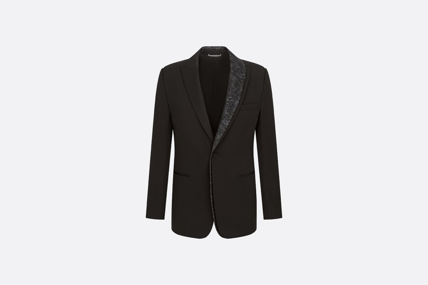 DIOR AND KENNY SCHARF Asymmetric Shawl Collar Jacket Front view Open gallery