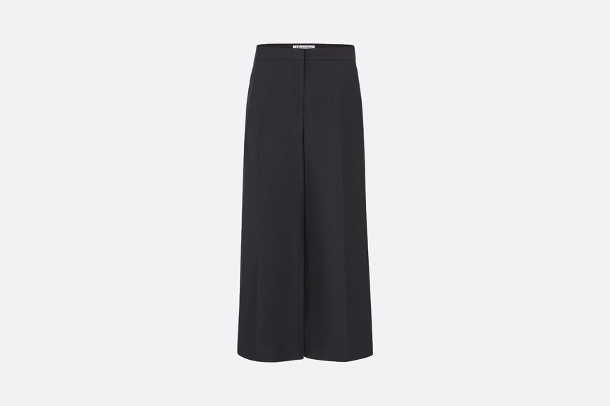 Wool and silk cropped pants aria_frontView