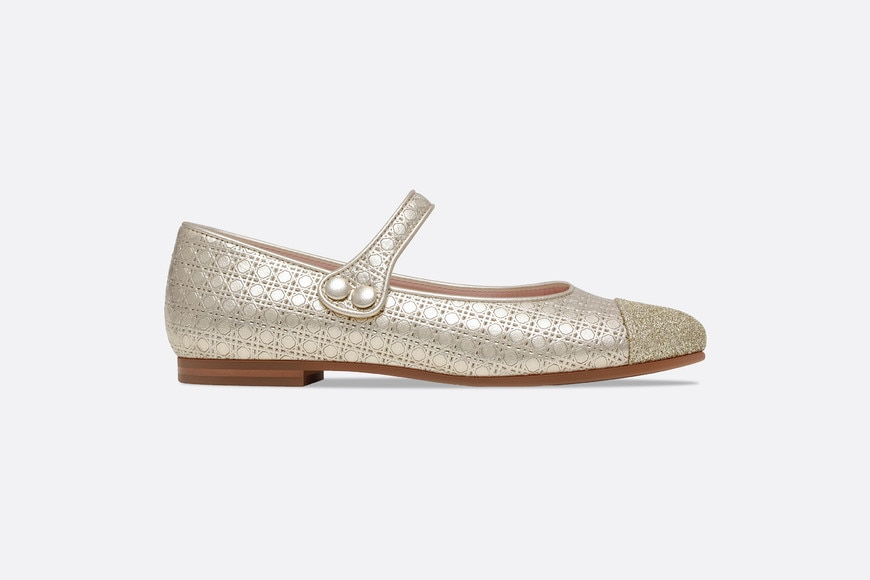 Lambskin leather and sequin ballerinas aria_profileView