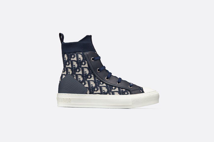 Walk'n'Dior high-top sneaker in Dior Oblique technical knit aria_profileView