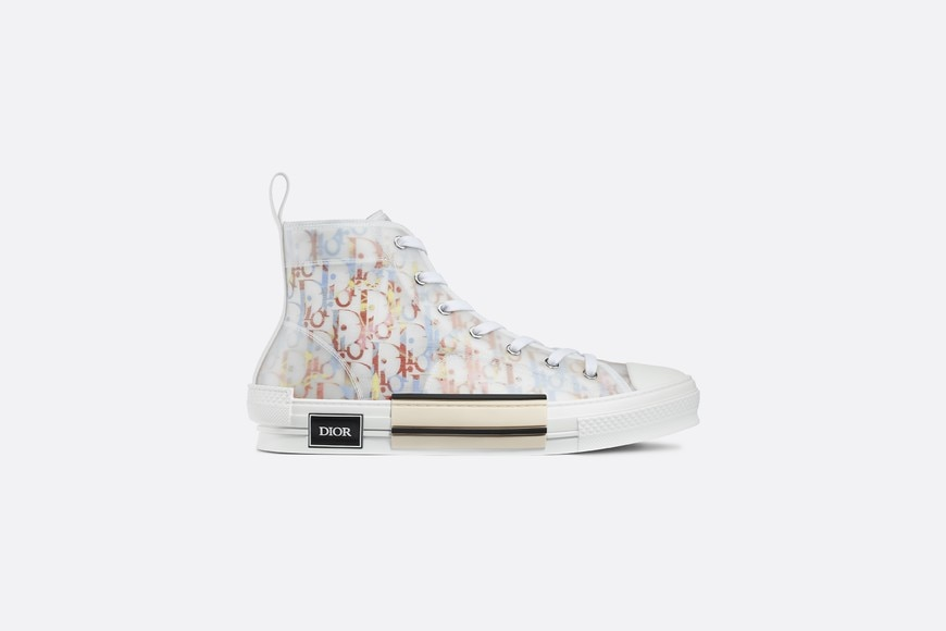 B23 High-Top Sneaker in Multicolor Dior Oblique profile view