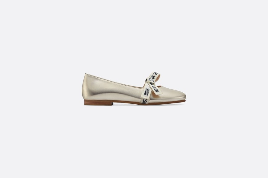 Ballerinas in metallic lambskin aria_profileView