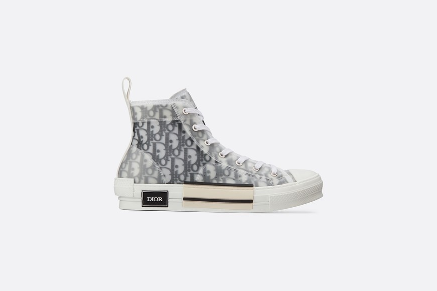 B23 High-Top Sneakers in Dior Oblique profile view