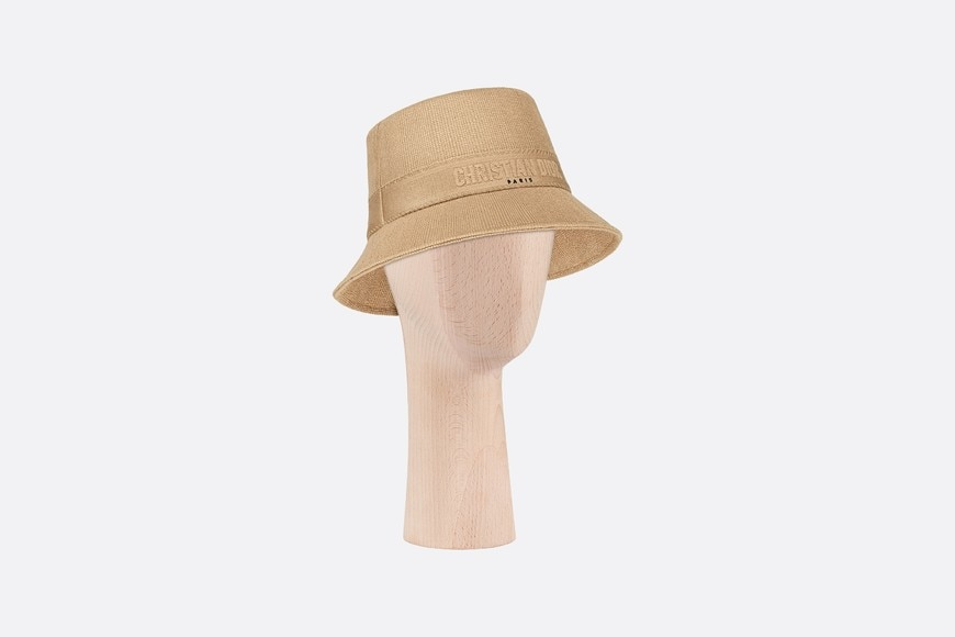 Small Brim Dior Bucket Hat Three quarter closed view Open gallery