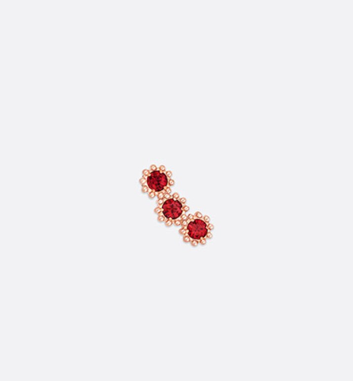 mimirose earring, 18k pink gold and rubies | Dior