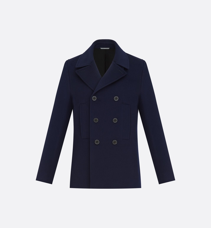double-breasted peacoat, navy blue cashmere | Dior
