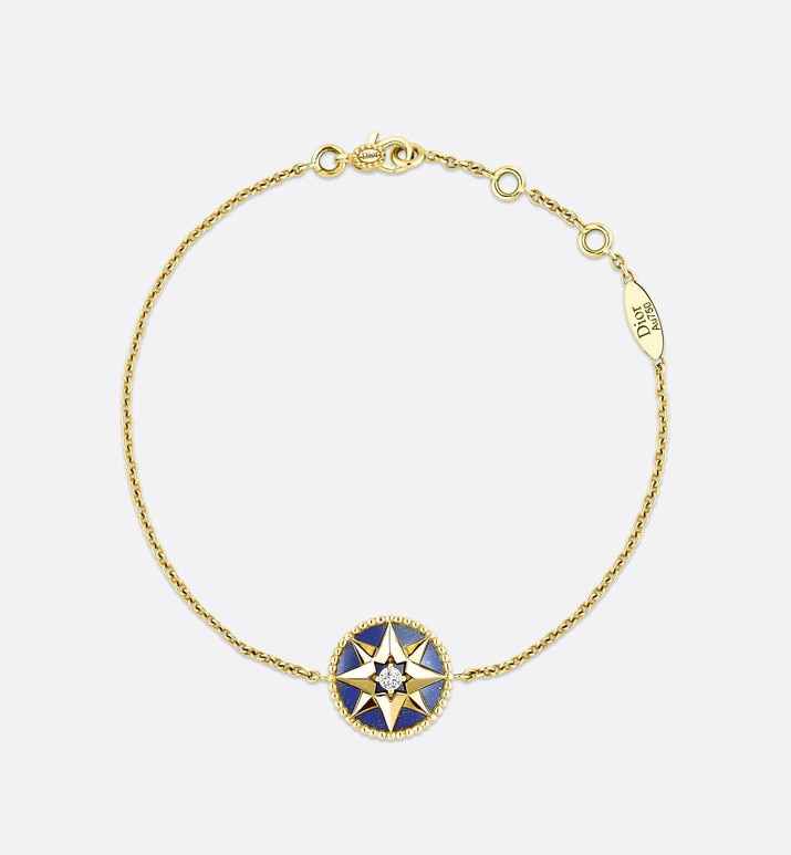 rose des vents bracelet, 18k yellow gold, diamond and lapis lazuli | Dior