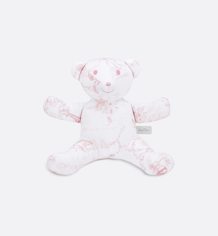 cotton satin 'toile de jouy' print teddy bear | Dior