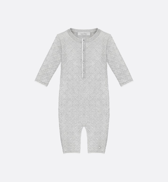 grey cashmere knit sleepsuit | Dior