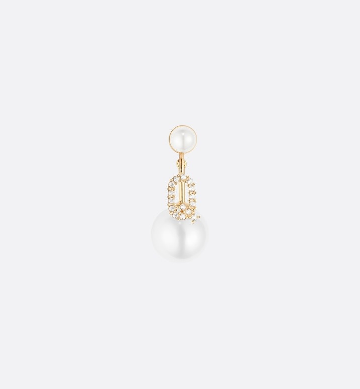 letter 'q' my abcdior tribales gold finish earring | Dior