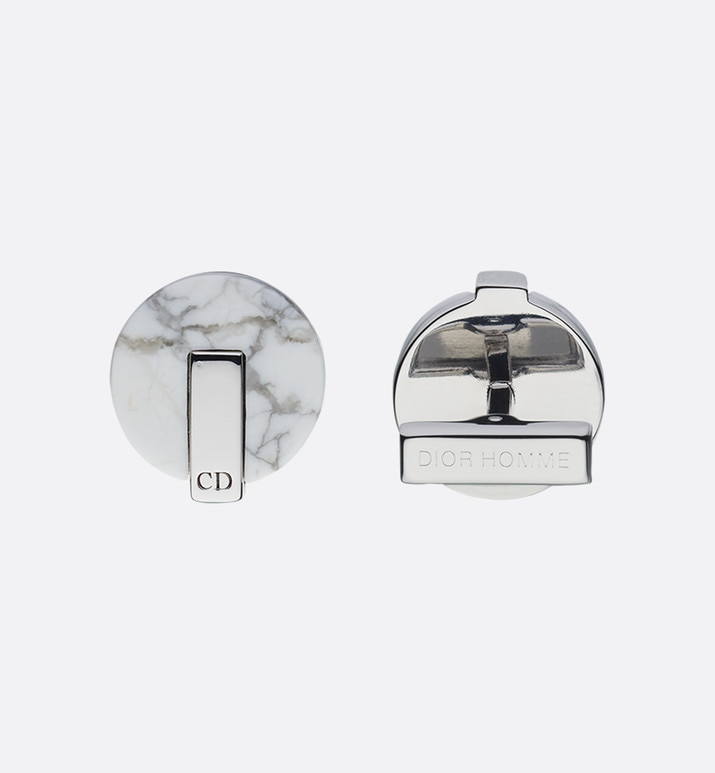 howlite and silver cufflinks | Dior