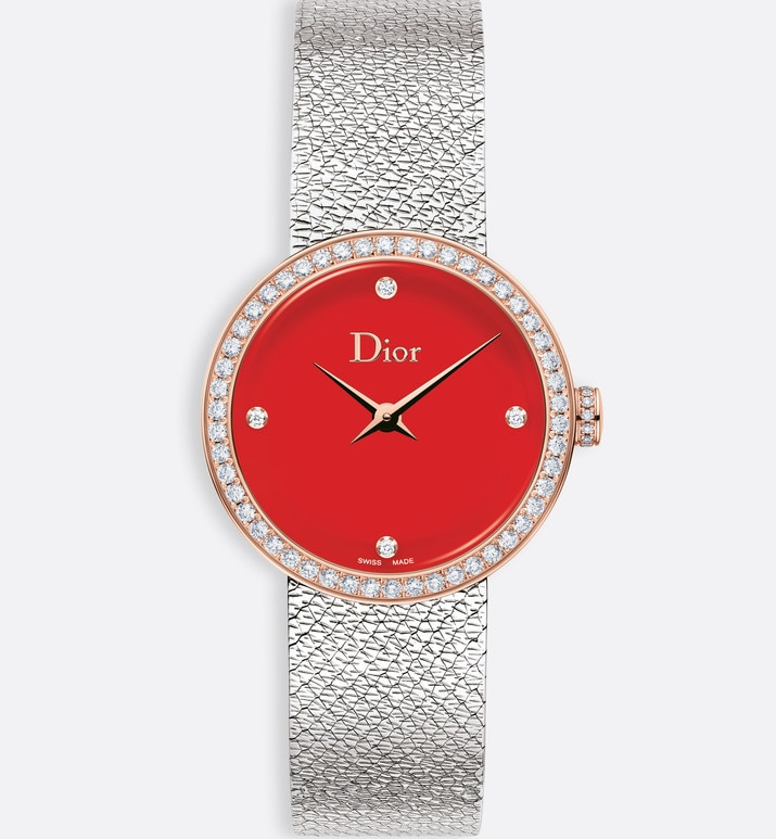 la d de dior satine ø 25mm, quartz movement | Dior