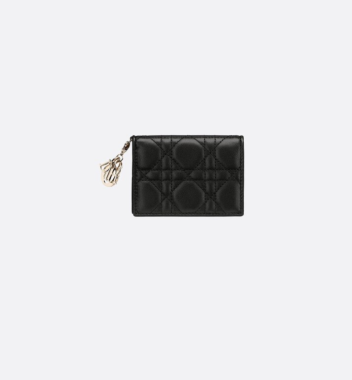 lady dior lambskin card holder | Dior