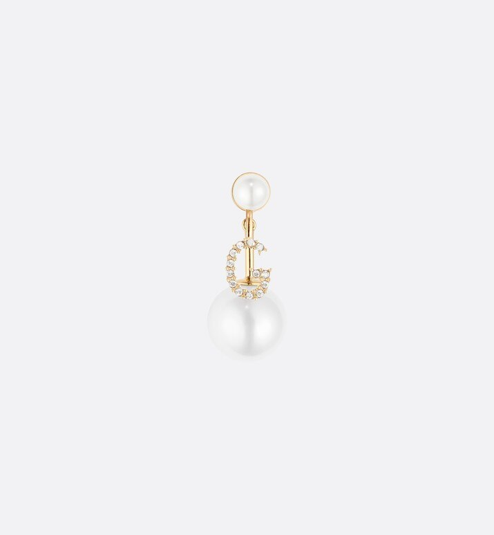 letter 'g' my abcdior tribales gold finish earring | Dior