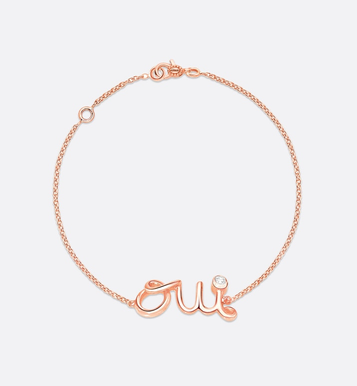 oui bracelet, 18k pink gold and diamond | Dior