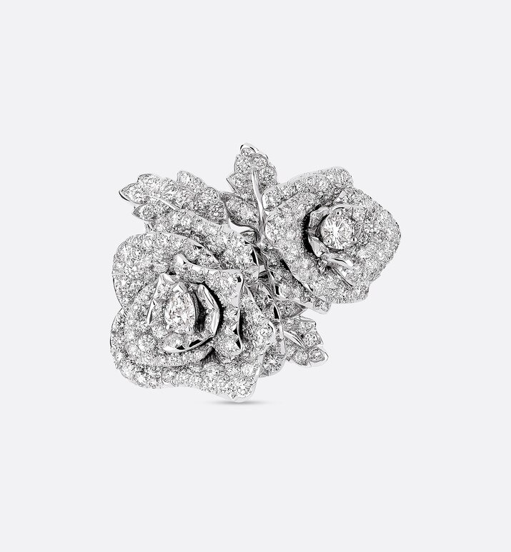 ring rose dior bagatelle gm, aus 750er weissgold mit diamanten | Dior