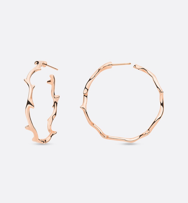 bois de rose earrings, large model, in 18k pink gold | Dior