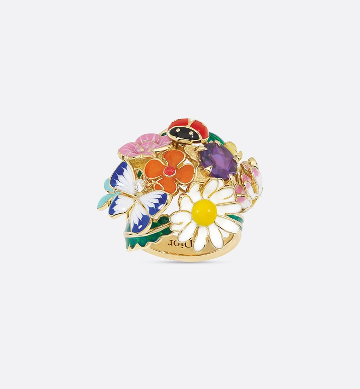 diorette ring, medium model, in 18k yellow gold and amethyst | Dior