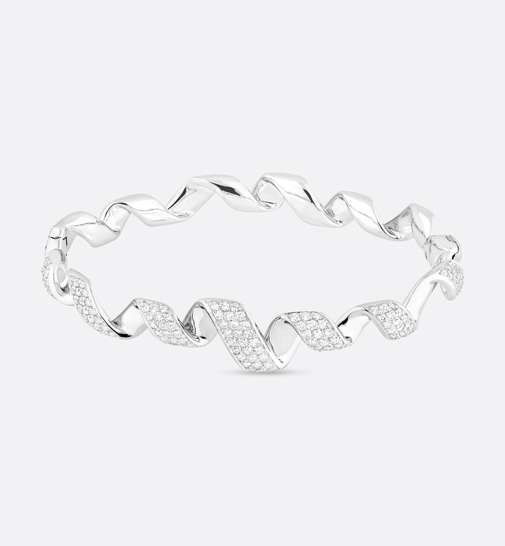 archi dior diorama bracelet in 18k white gold and diamonds | Dior