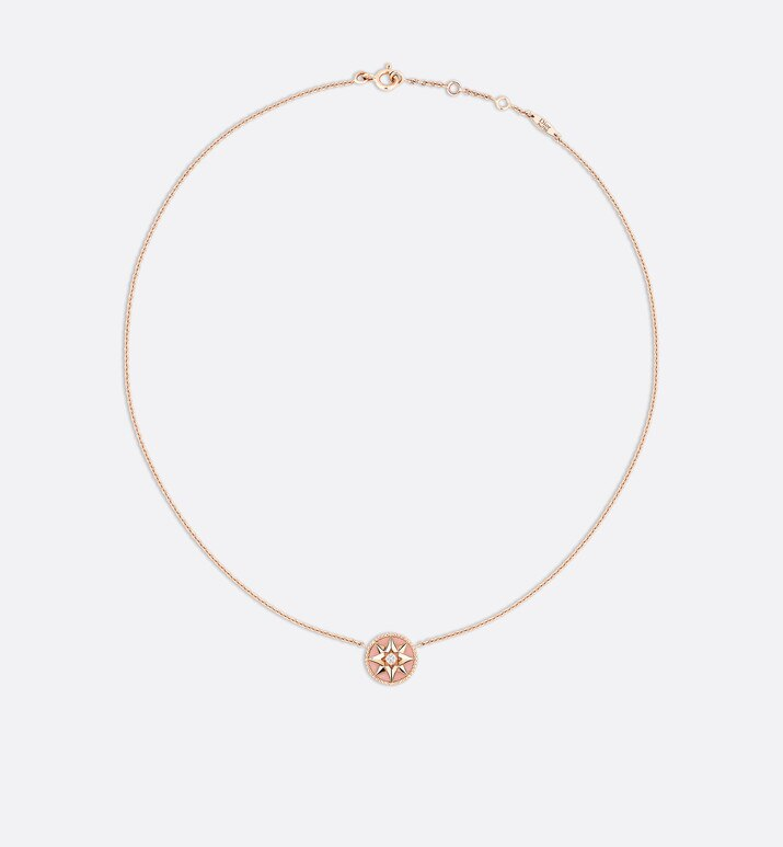 collier rose des vents, or rose 750/1000e, diamant et opale rose | Dior